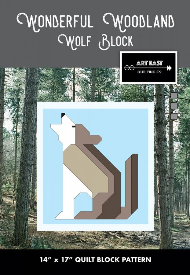 Wolf Block - Wonderful Woodland Quilt sewing pattern from Art East Quilting Co.