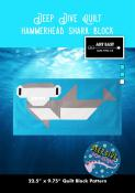 Hammerhead Shark Block - Deep Dive quilt sewing pattern from Art East Quilting Co.