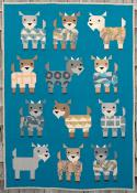Kidding Around Goats in Pajamas quilt sewing pattern from Art East Quilting Co. 2