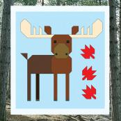 Moose Block - Wonderful Woodland Quilt sewing pattern from Art East Quilting Co. 2