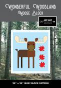 Moose Block - Wonderful Woodland Quilt sewing pattern from Art East Quilting Co.
