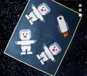 Space Bacon quilt sewing pattern from Art East Quilting Co. 2