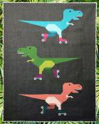 Dinorama T-Rex on Roller Skates quilt sewing pattern from Art East Quilting Co. 2