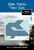 Whale Block - Going Coastal quilt sewing pattern from Art East Quilting Co.