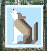 Wolf Block - Wonderful Woodland Quilt sewing pattern from Art East Quilting Co. 2