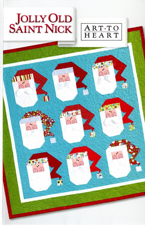 INVENTORY REDUCTION...Jolly Old Saint Nick quilt sewing pattern by Nancy Halvorsen Art to Heart