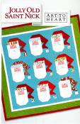Jolly Old Saint Nick quilt sewing pattern by Nancy Halvorsen Art to Heart