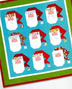 INVENTORY REDUCTION...Jolly Old Saint Nick quilt sewing pattern by Nancy Halvorsen Art to Heart 3