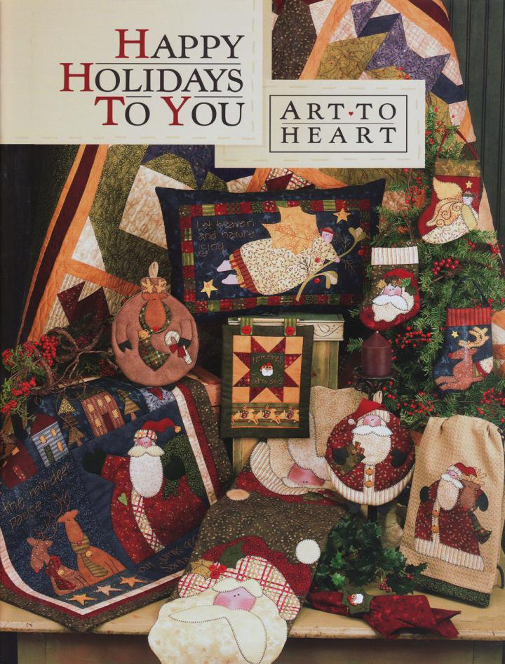 Happy-Holidays-to-You-sewing-pattern-book-Art-To-Heart-front