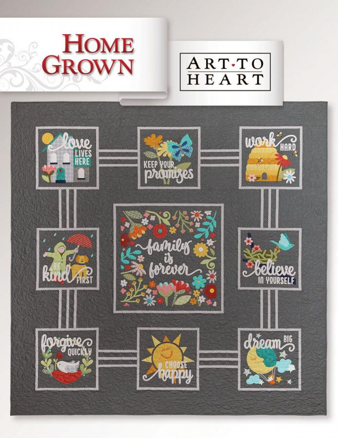 INVENTORY REDUCTION - Home Grown sewing pattern book Art To Heart