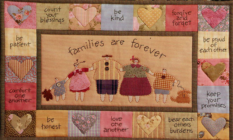 Family Matters - Art To Heart wall quilts pattern by Nancy Halvorsen