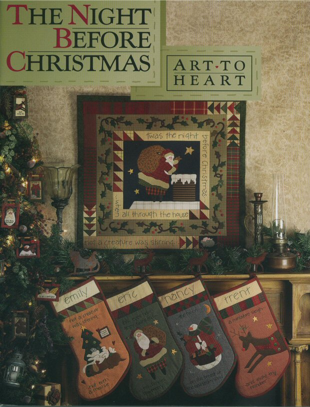 the night before christmas sewing pattern book by nancy