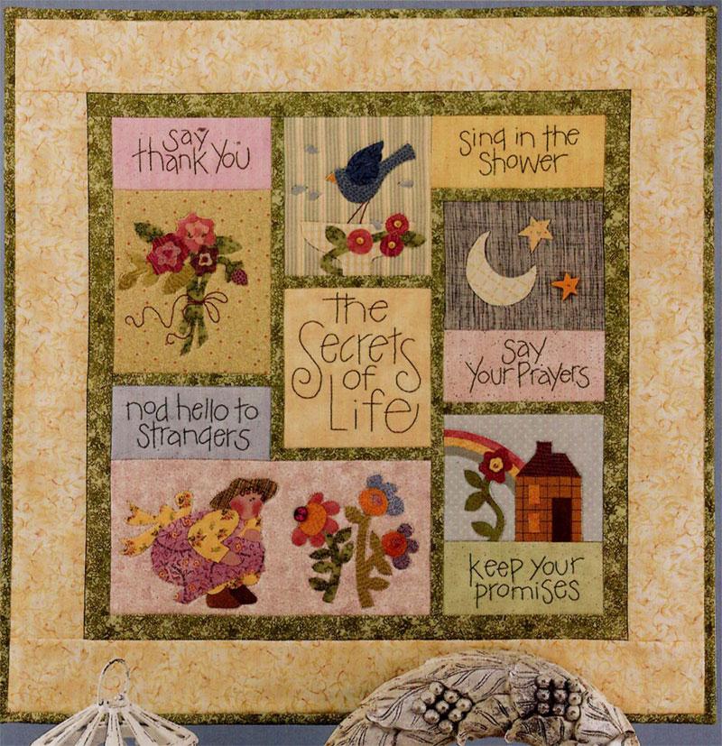 Secrets Of Life - Art To Heart wall quilt pattern by Nancy Halvorsen