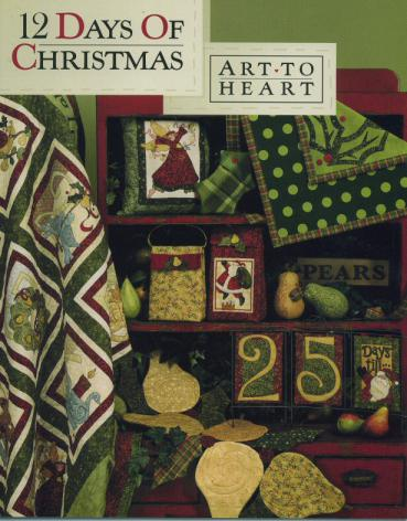 12 Days of Christmas quilt sewing pattern book by Nancy Halvorsen Art to Heart