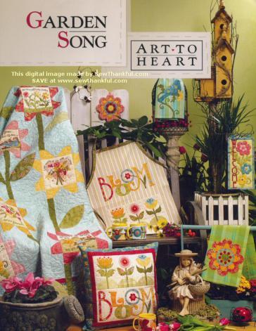 Garden Song sewing pattern book  by Nancy Halvorsen Art to Heart