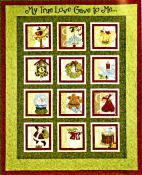 12 Days of Christmas quilt sewing pattern book by Nancy Halvorsen Art to Heart 2