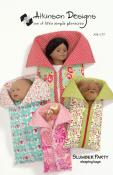Slumber Party - sleeping bags for dolls sewing pattern from Atkinson Designs
