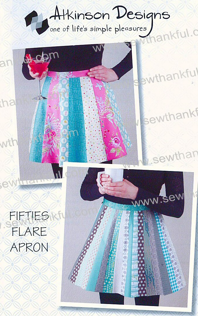Fifties Flare Apron Sewing Pattern From Atkinson Designs
