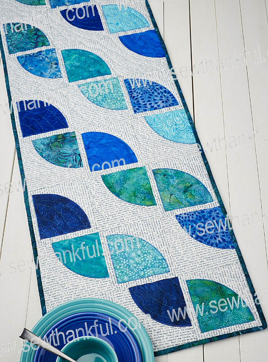 Drunkard S Path Table Runner Sewing Pattern By Terry