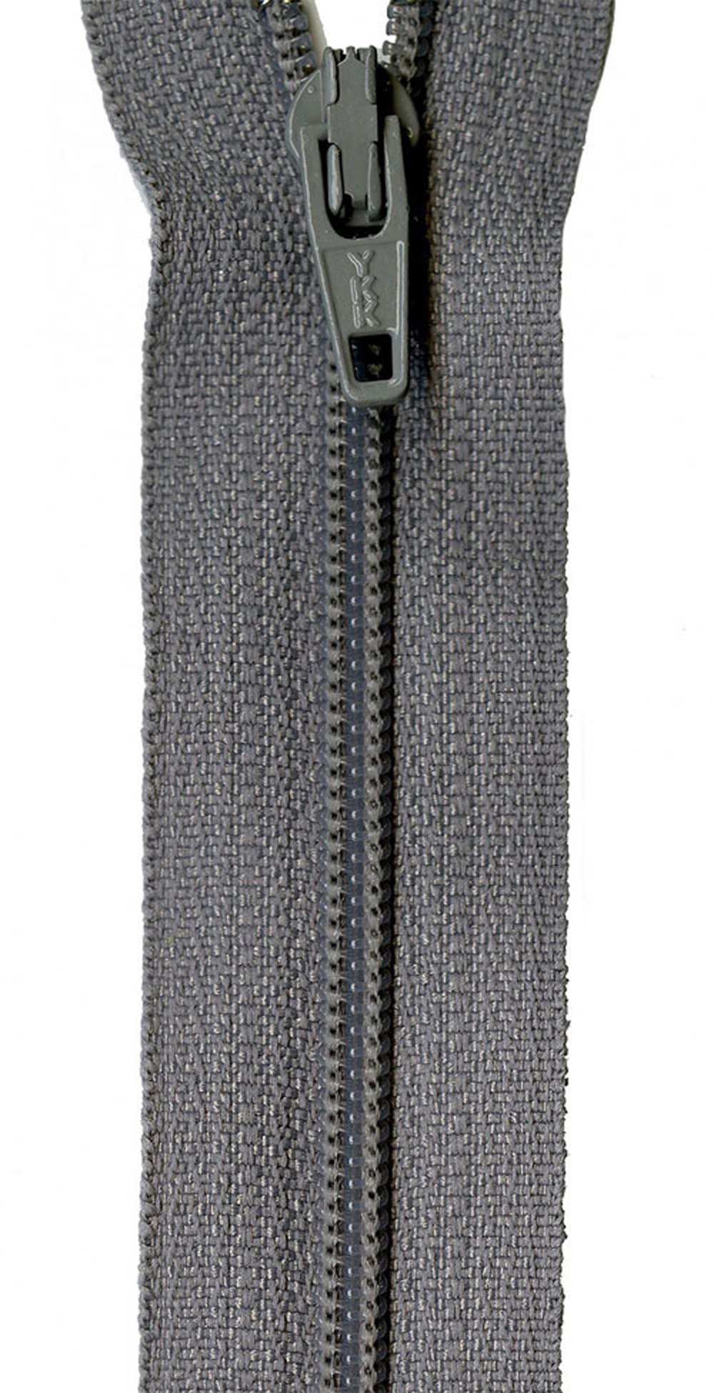 Zipper-YKK-22-inch-Grey-Kitty