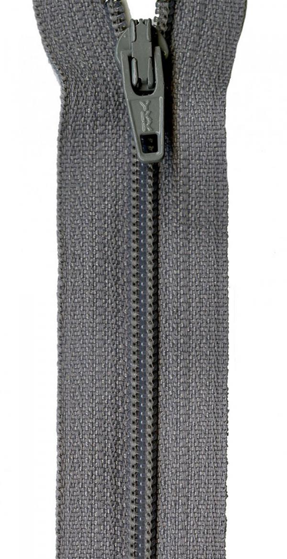 Zipper-YKK-14-inch-Grey-Kitty