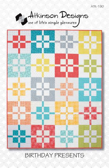 Birthday Presents quilt sewing pattern from Atkinson Designs