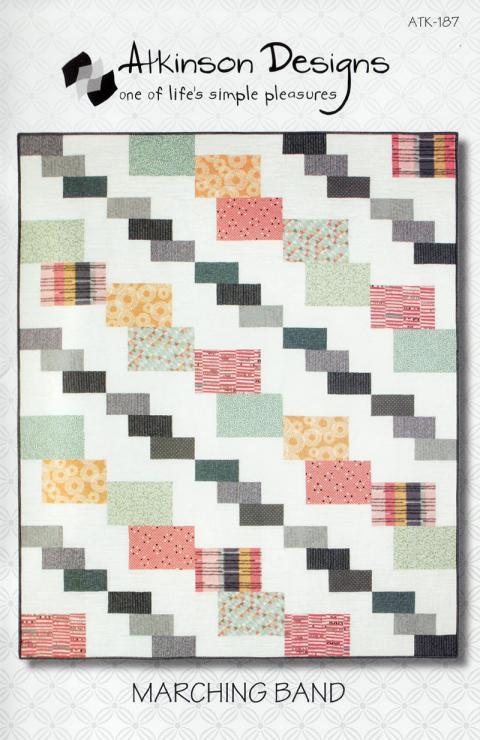 Marching Band quilt sewing pattern from Atkinson Designs