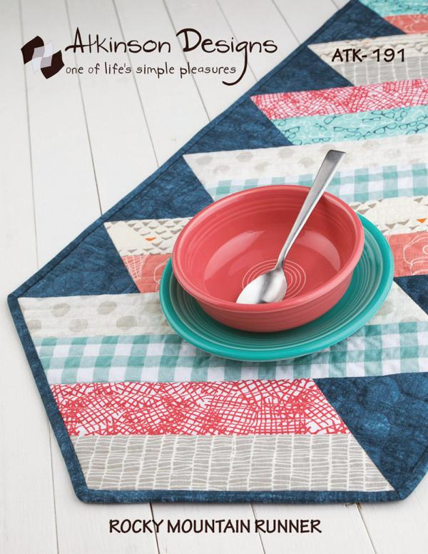 Rocky mountain table runner sewing pattern from atkinson designs watchthetrailerfo