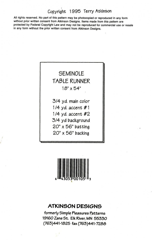 Seminole-Table-Runner-sewing-pattern-Atkinson-Designs-back