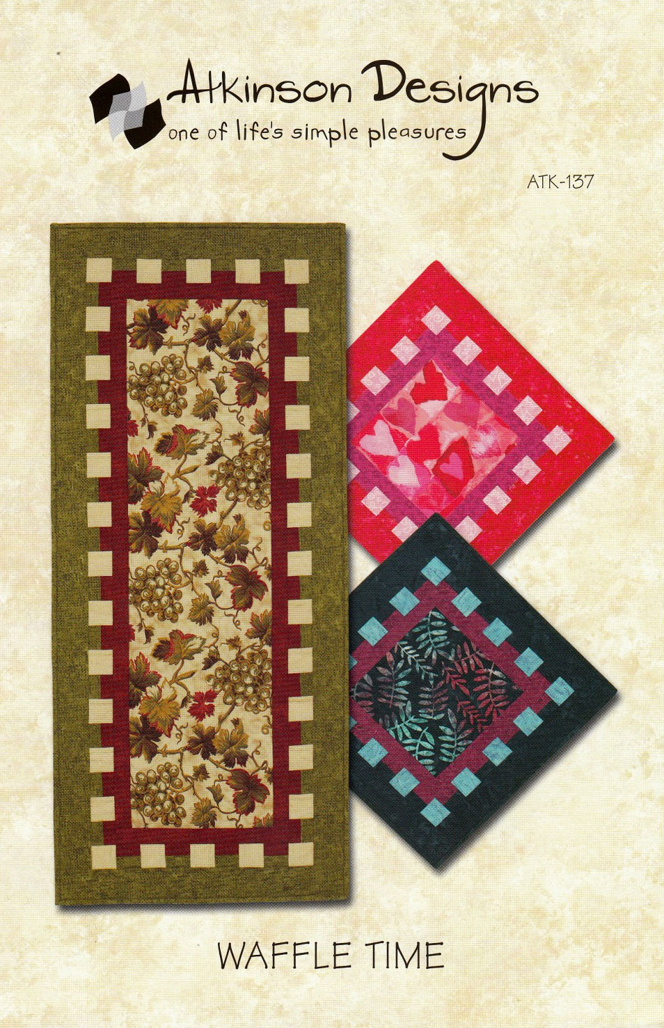 Waffle-Time-Table-Runner-sewing-pattern-Atkinson-Designs-front