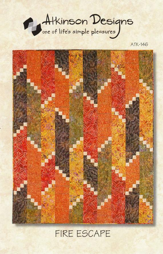 Fire Escape quilt sewing pattern from Atkinson Designs
