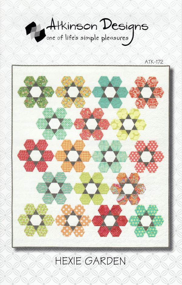 Hexie Garden quilt sewing pattern from Atkinson Designs