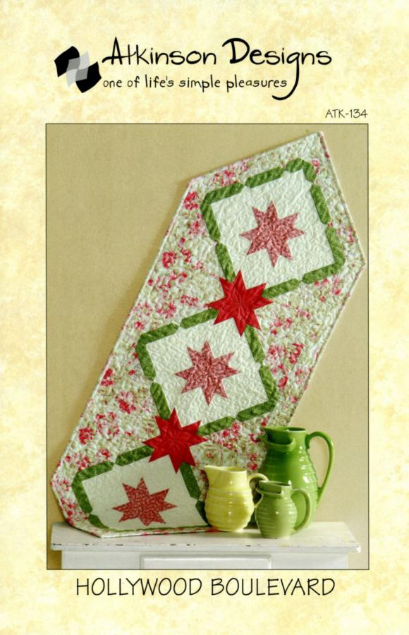 Hollywood Boulevard Table Runner sewing pattern from Atkinson Designs