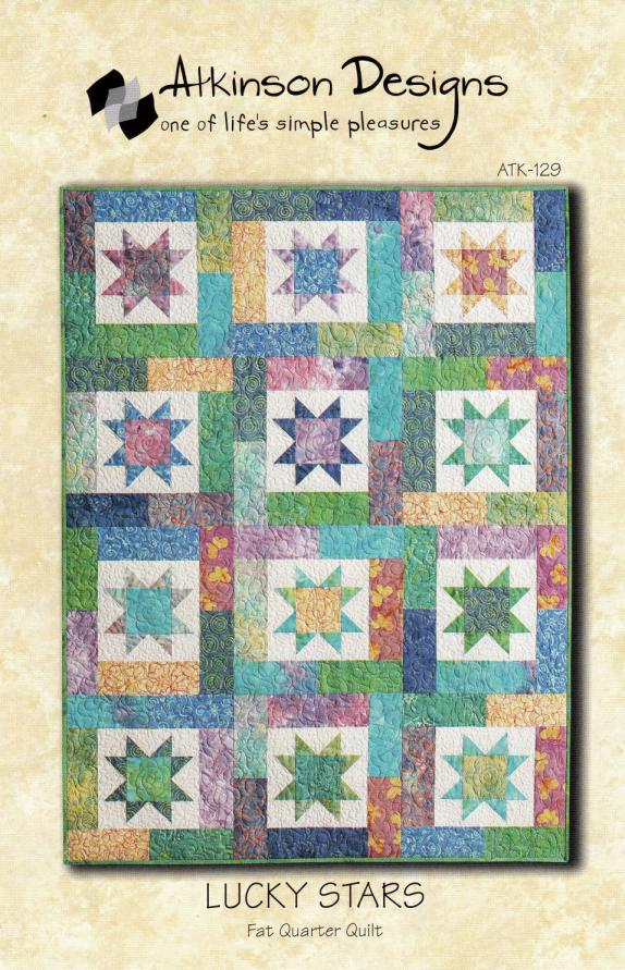 Lucky Stars quilt sewing pattern from Atkinson Designs