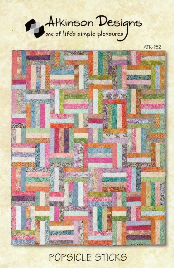 Popsicle Sticks quilt sewing pattern from Atkinson Designs