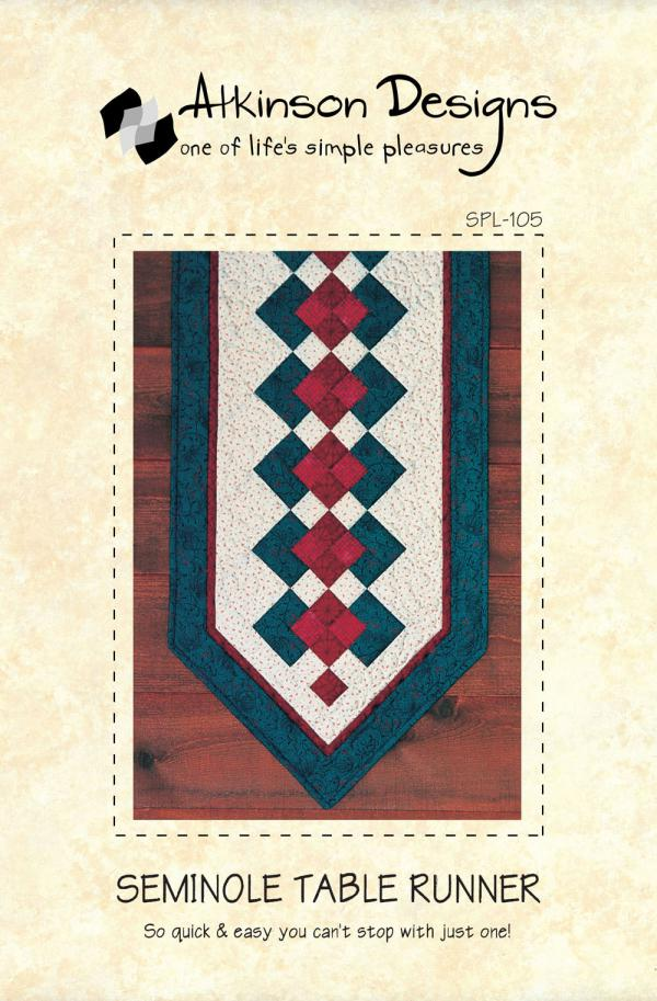 Seminole Table Runner sewing pattern from Atkinson Designs