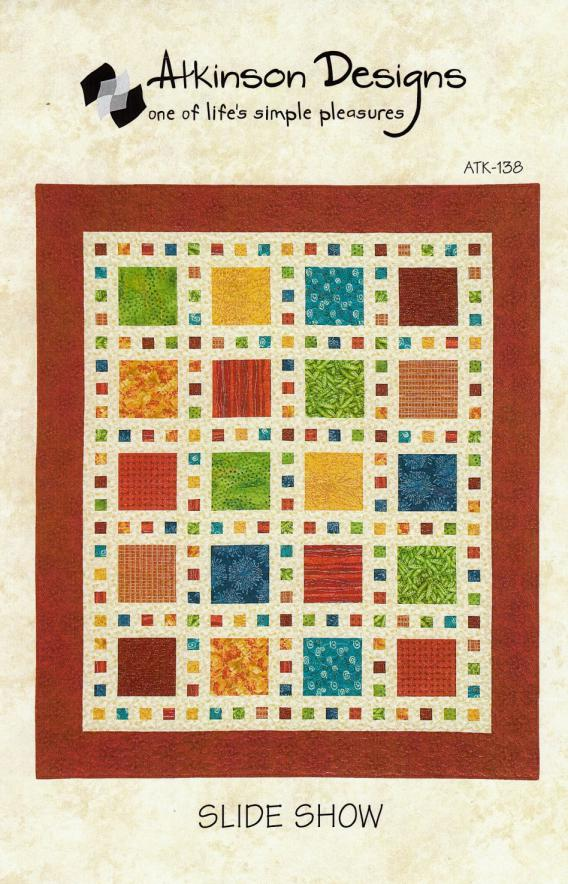 Slide Show quilt sewing pattern from Atkinson Designs