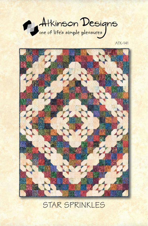Star Sprinkles quilt sewing pattern from Atkinson Designs