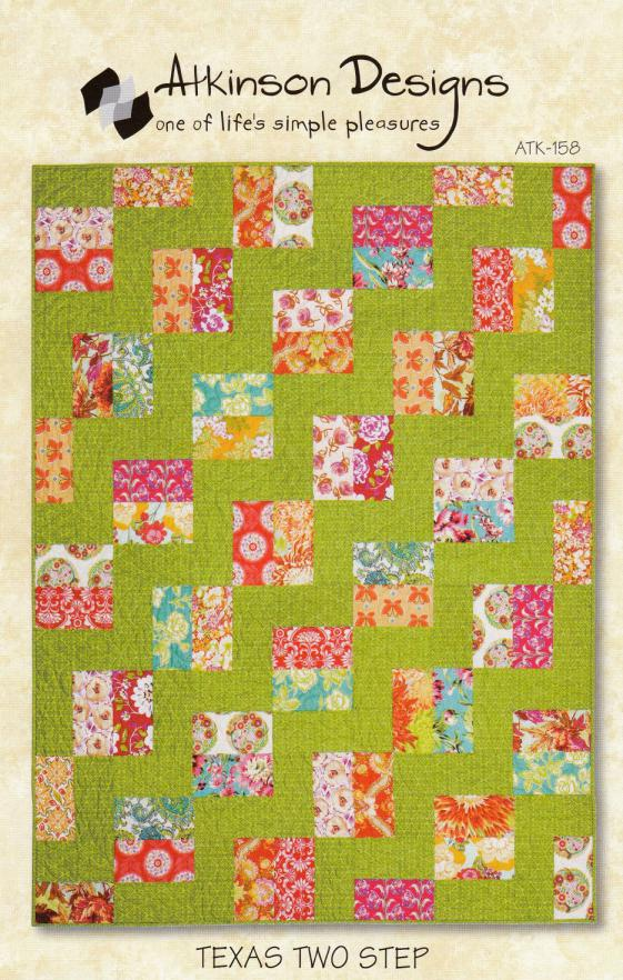 Texas Two Step quilt sewing pattern from Atkinson Designs