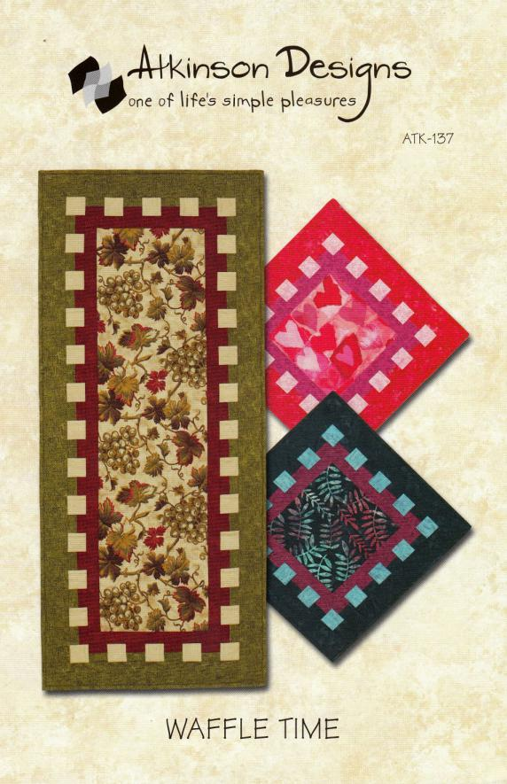 Waffle Time Table Runner sewing pattern from Atkinson Designs