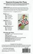 Krista's Kitchen Hot Pads sewing pattern from Atkinson Designs 2