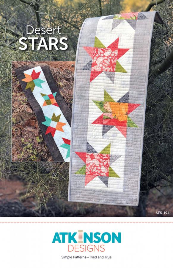 Desert Stars Table Runner sewing pattern from Atkinson Designs