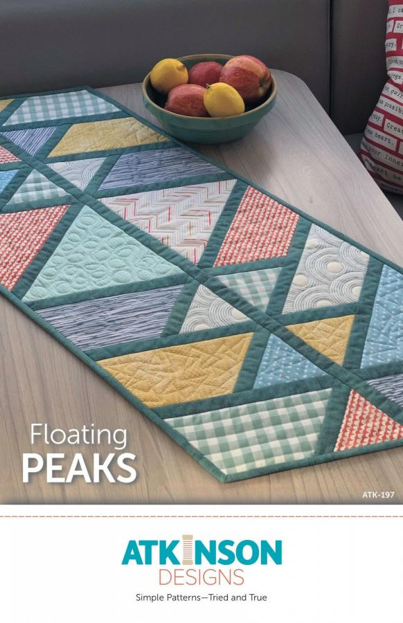 INVENTORY REDUCTION -- Floating Peaks table runner sewing pattern from Atkinson Designs