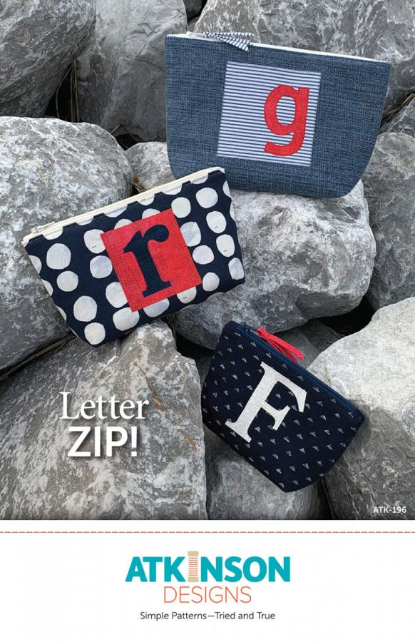 CLOSEOUT..Letter Zip sewing pattern from Atkinson Designs