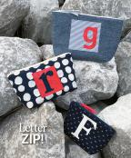 CLOSEOUT..Letter Zip sewing pattern from Atkinson Designs 2