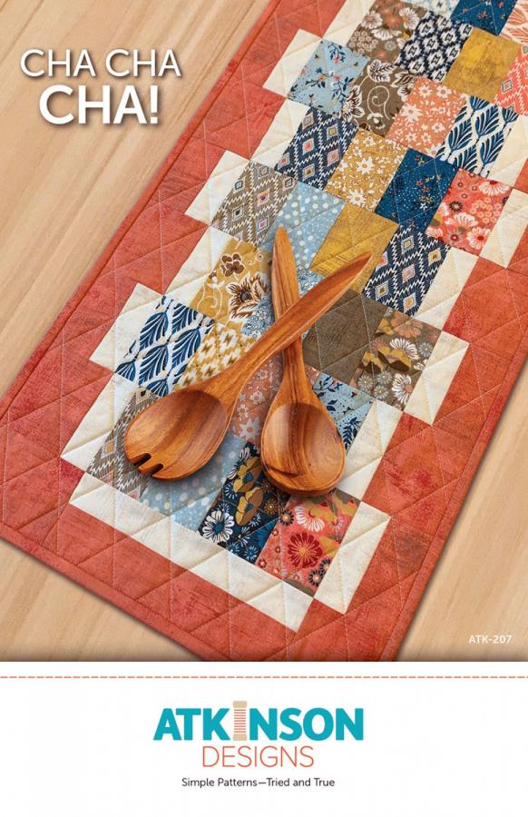 Cha Cha Cha! table runner sewing pattern from Atkinson Designs