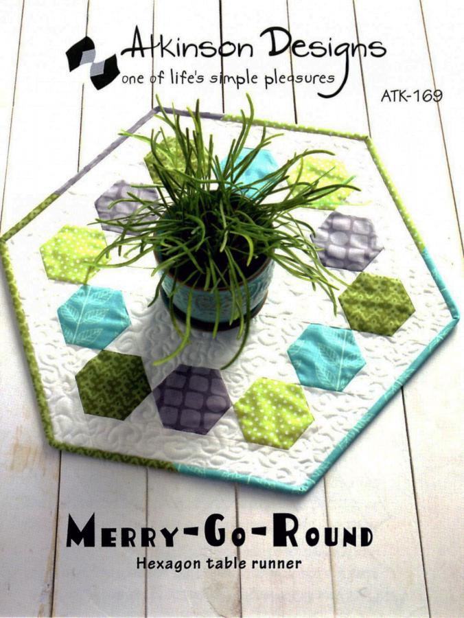 Merry Go Round Hexagon Table Runner sewing pattern from Atkinson Designs