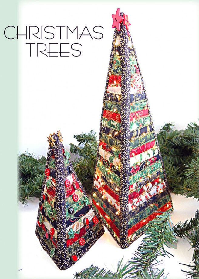 Christmas Trees sewing pattern from Aunties Two