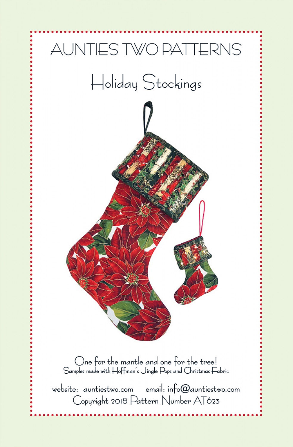 Holiday Stockings sewing pattern from Aunties Two