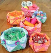 Woven Hexie Flower Bowls sewing pattern from Aunties Two 2